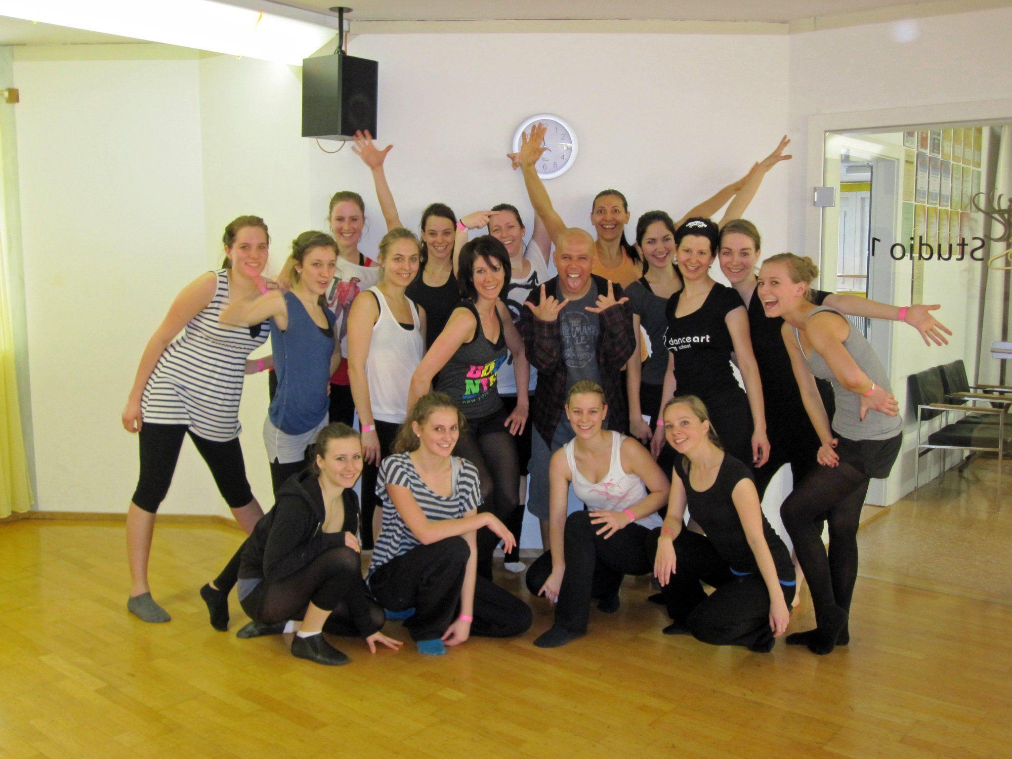 200 Tanzbegeisterte lernten von den Star-Choreografen die neuesten Dance-Steps.