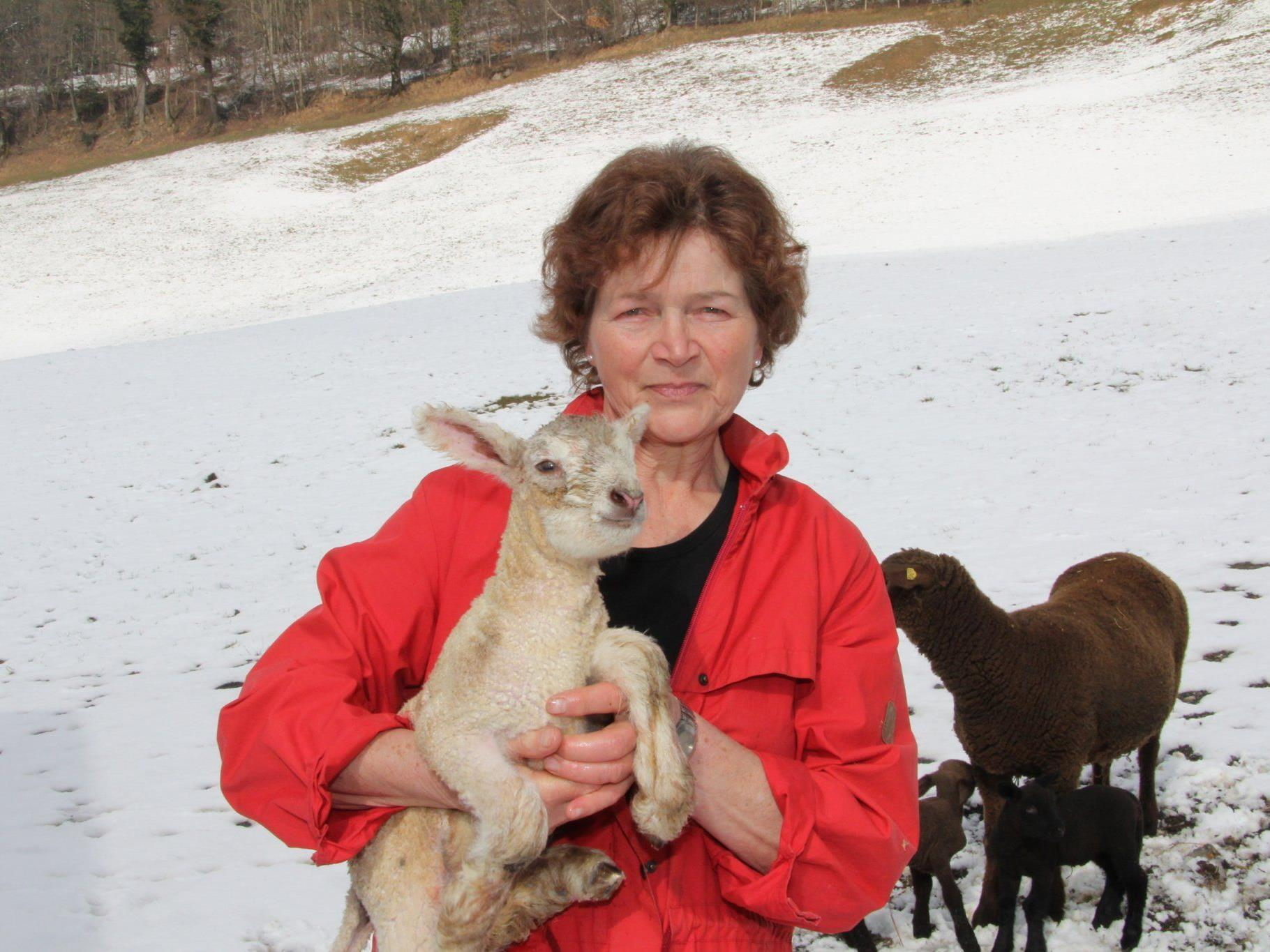 Brigitte Moosbrugger und ihre Tiere