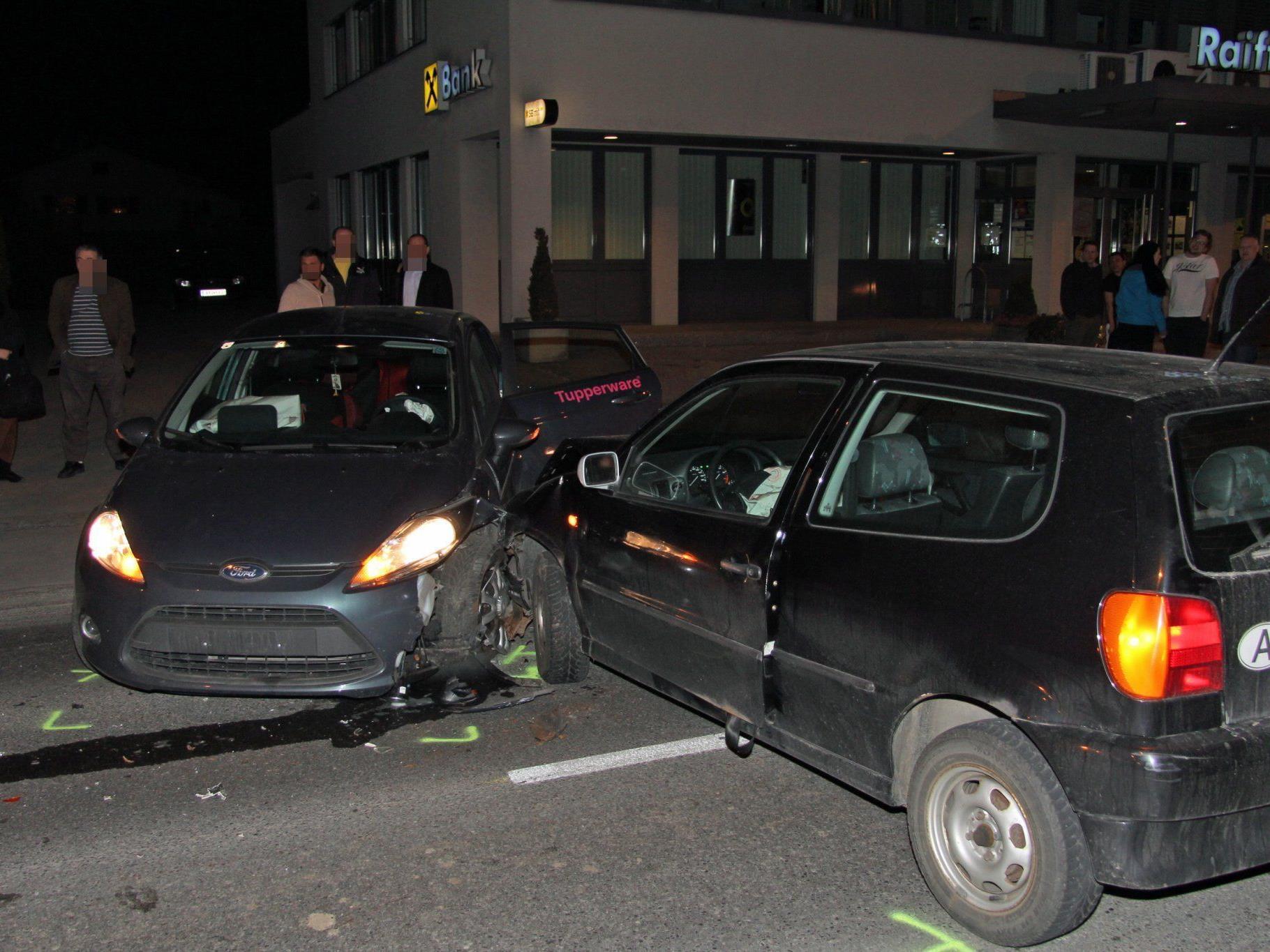 Verkehrsunfall in Hard