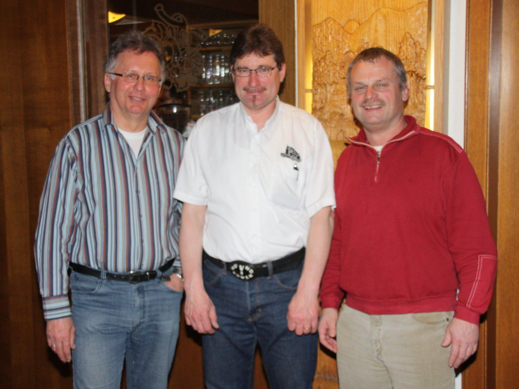 Armin Lins, Manfred Dünser und Claus Dorner