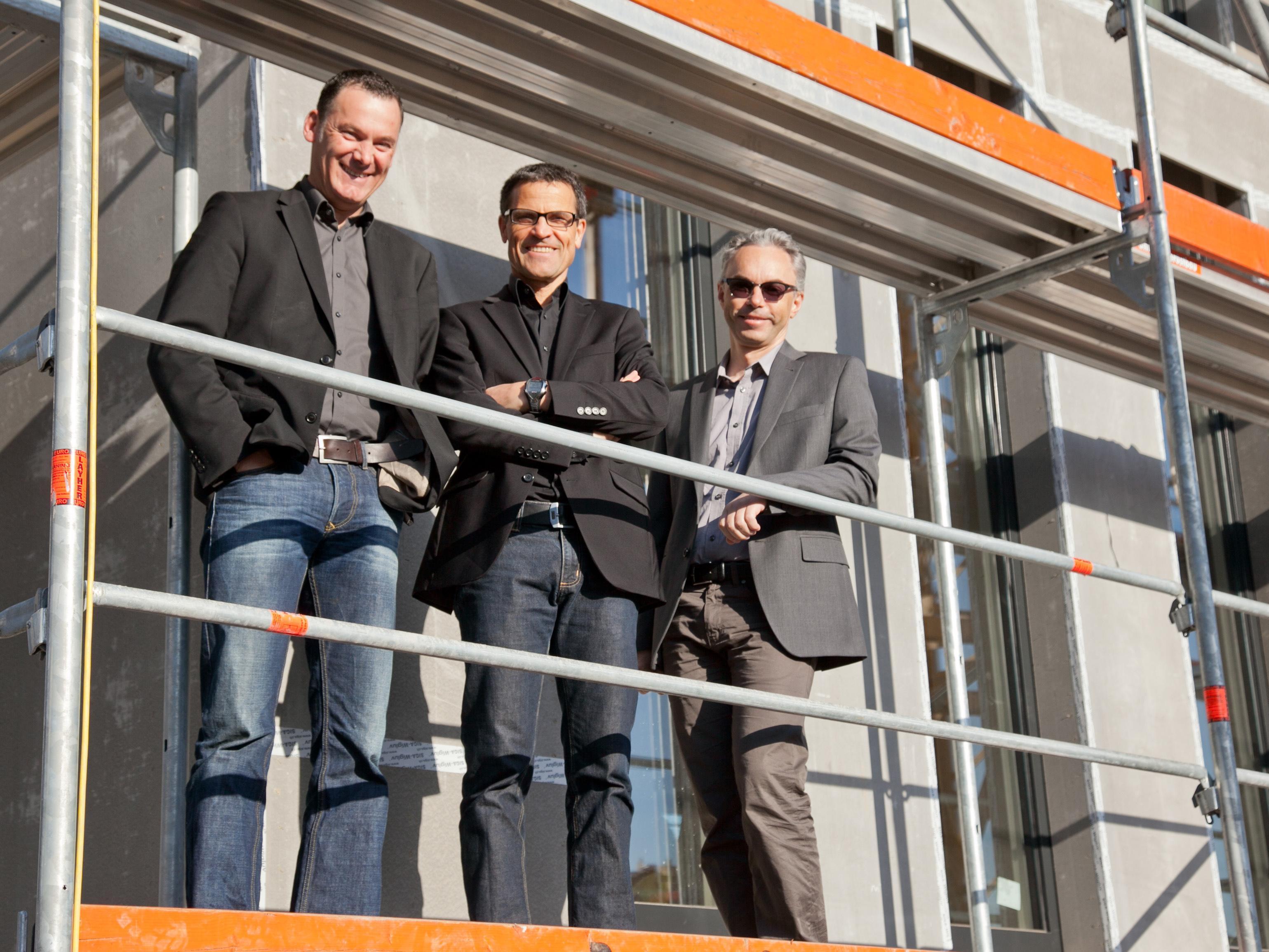Jörg Potzinger (stromaufwärts Photovoltaik), Reinhard Weiss und Christof Drexel (drexel und weiss)