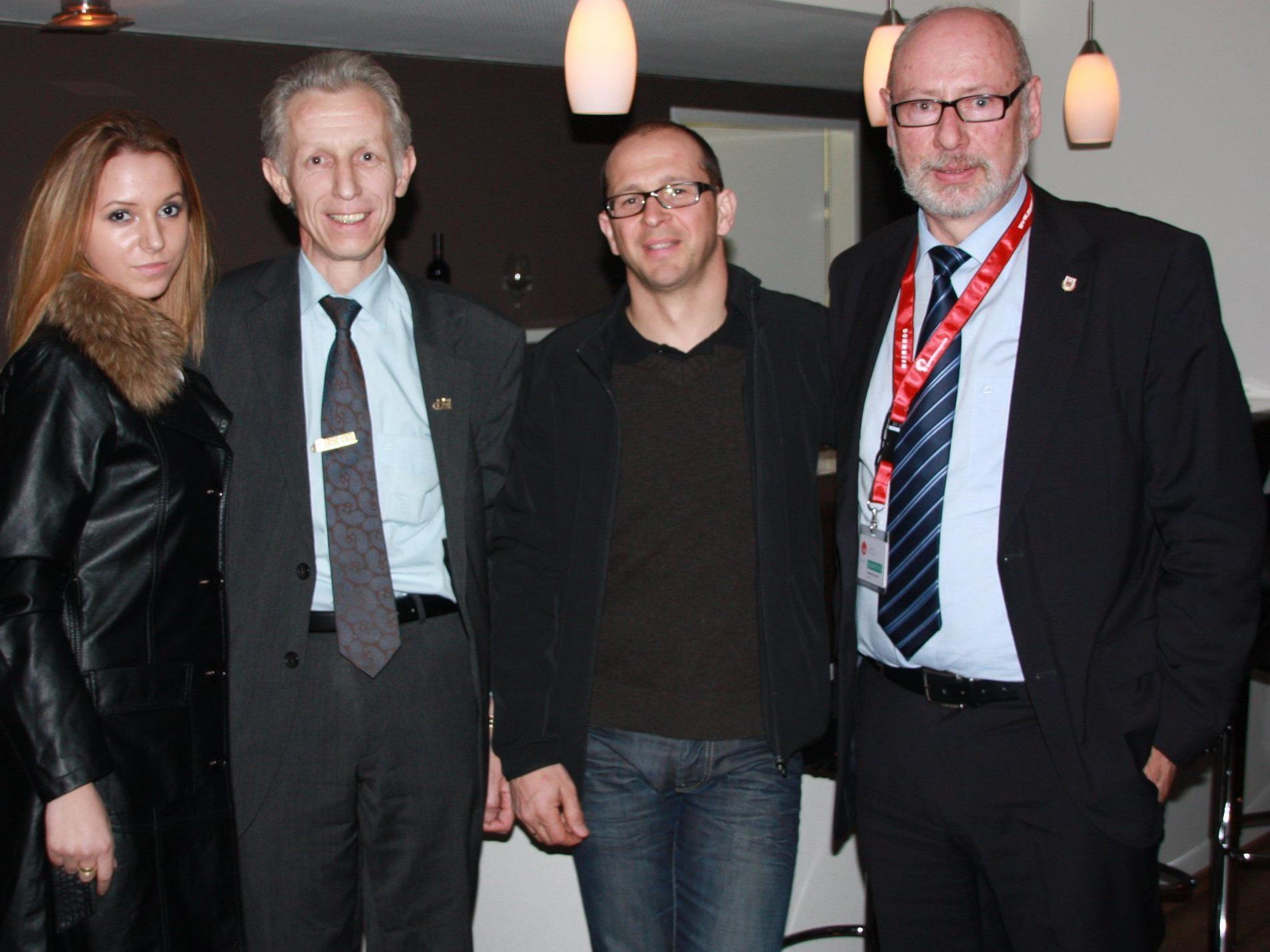 """FBI-""""Boss"""" Friedl Brunauer, Kurt Michelini und Förderklub-Präsident Günther W. Amann freuten sich."""