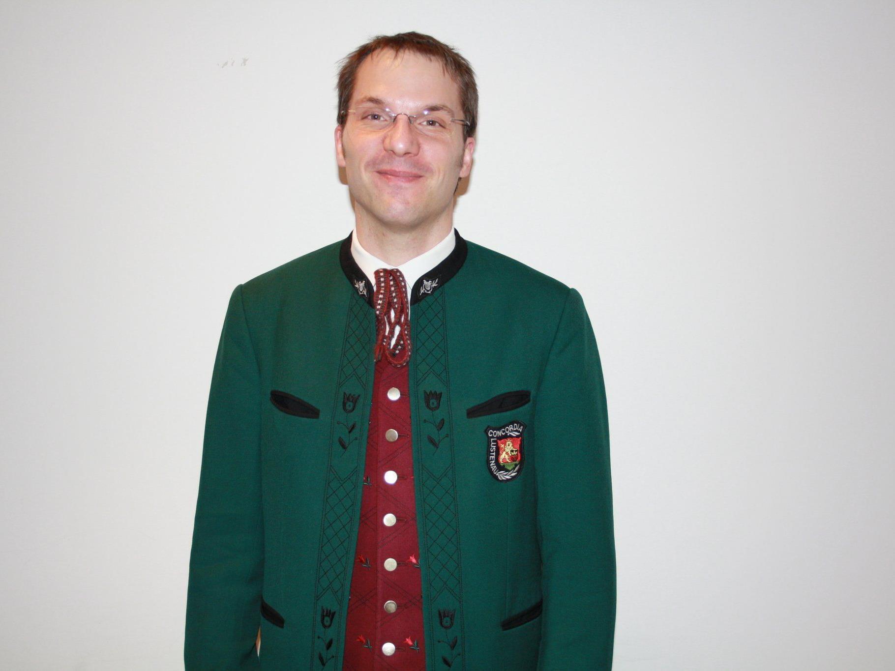 Oliver Huber ist der neue Obmann des Musikverein Concordia Lustenau.