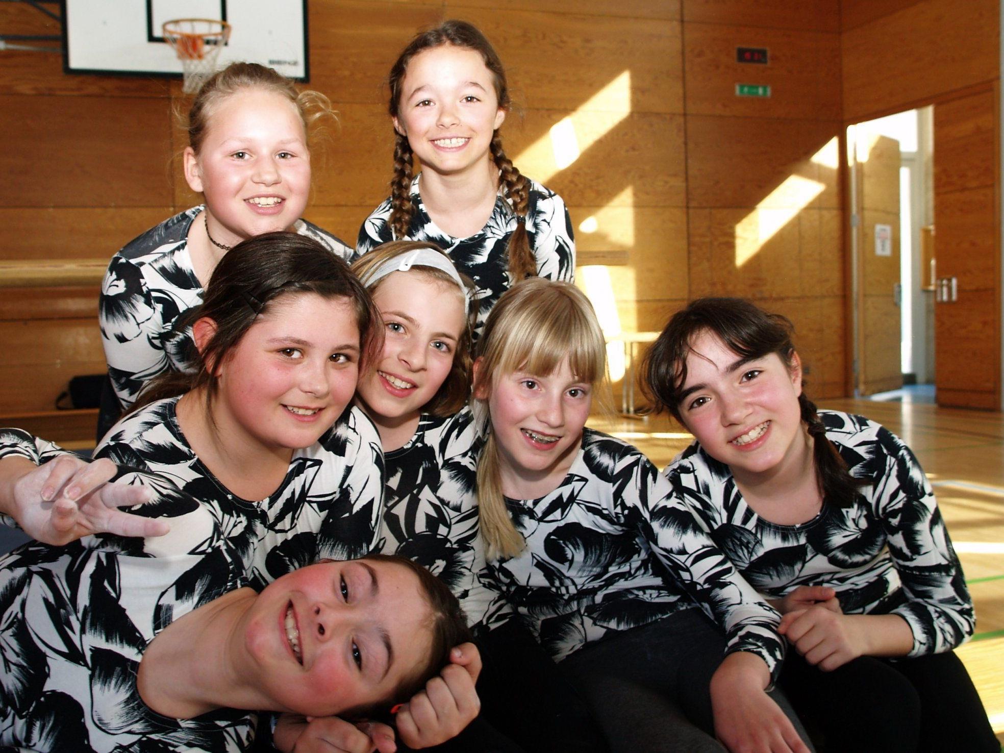 Die Turnerinnen waren mit viel Freude und sportlichem Einsatz dabei.