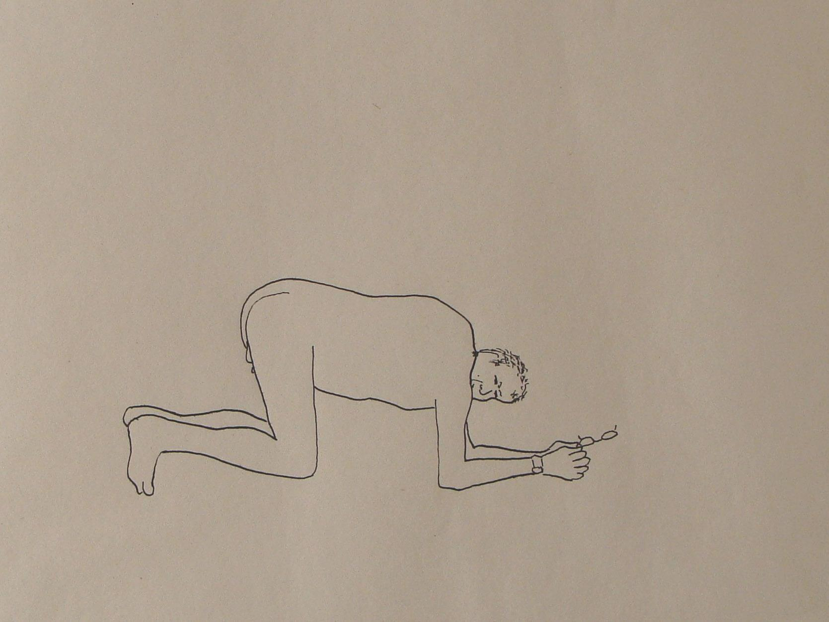Peter Wehinger thematisiert das Altern und die Schwerkraft...