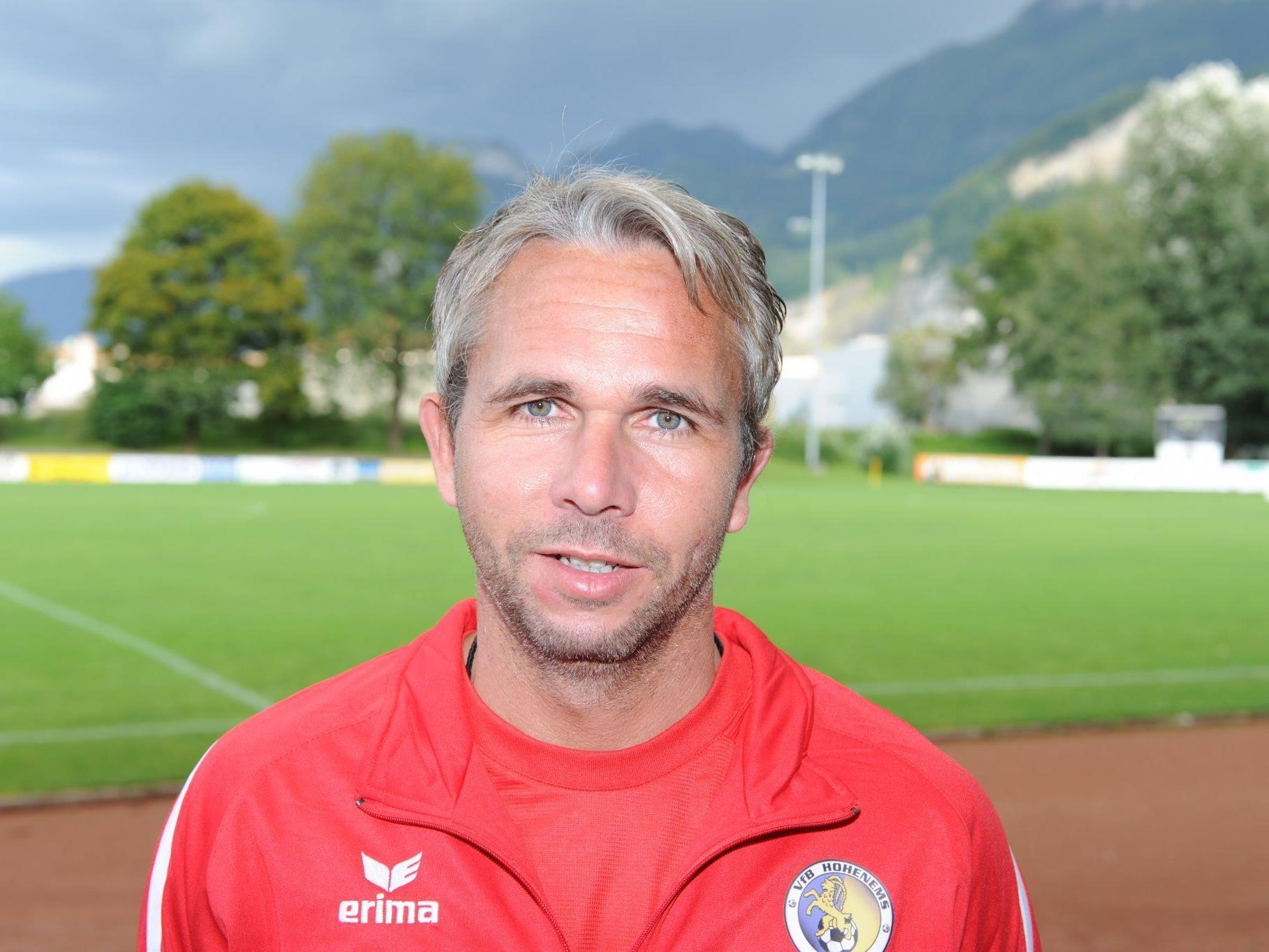 Rainer Spiegel hat seinen Vertrag als Trainer in Hohenems um eine Saison verlängert.