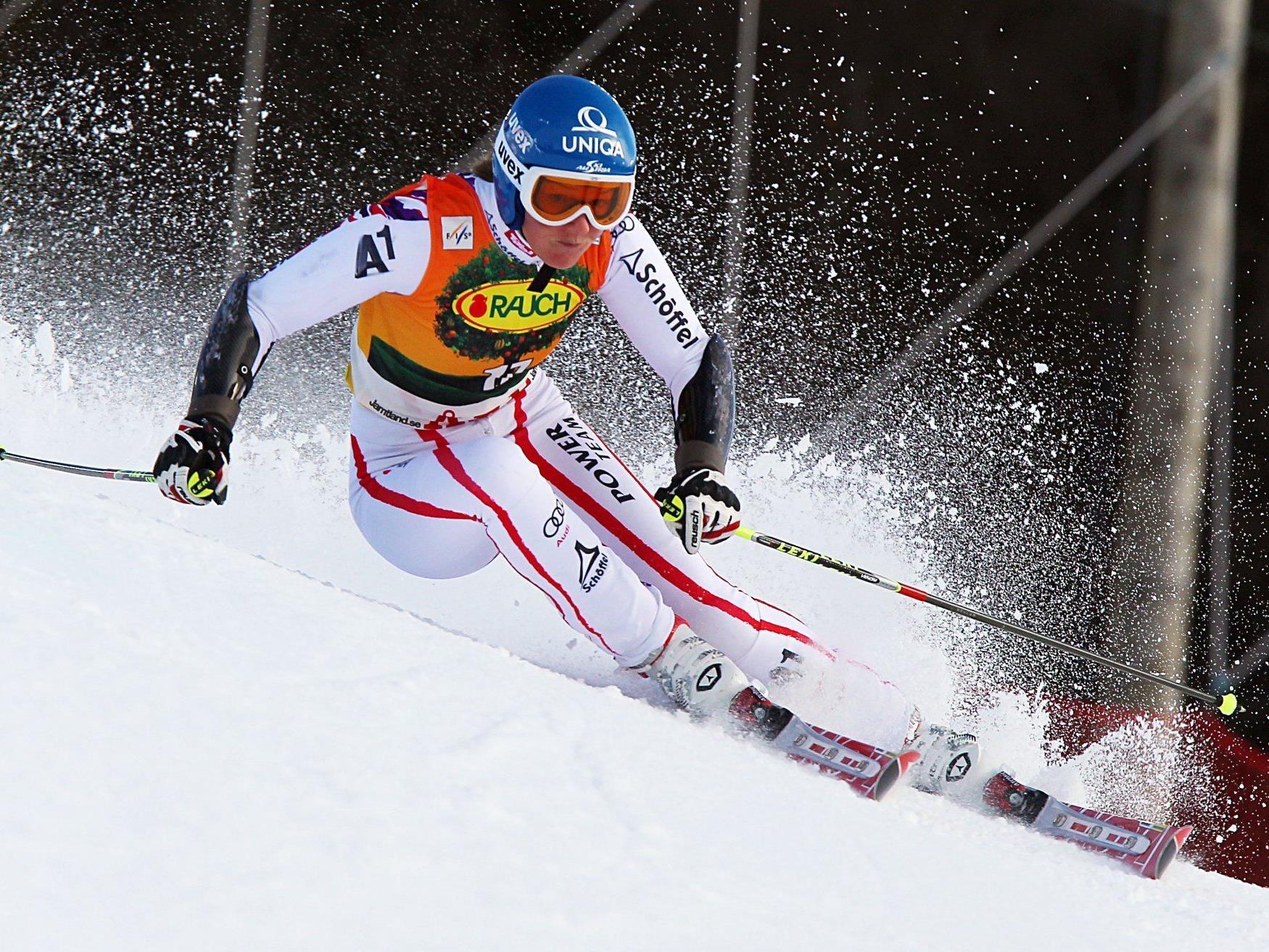 Marlies Schild kann locker in die letzten Rennen gehen. Die Slalom-Kugel hat sie schon sicher.