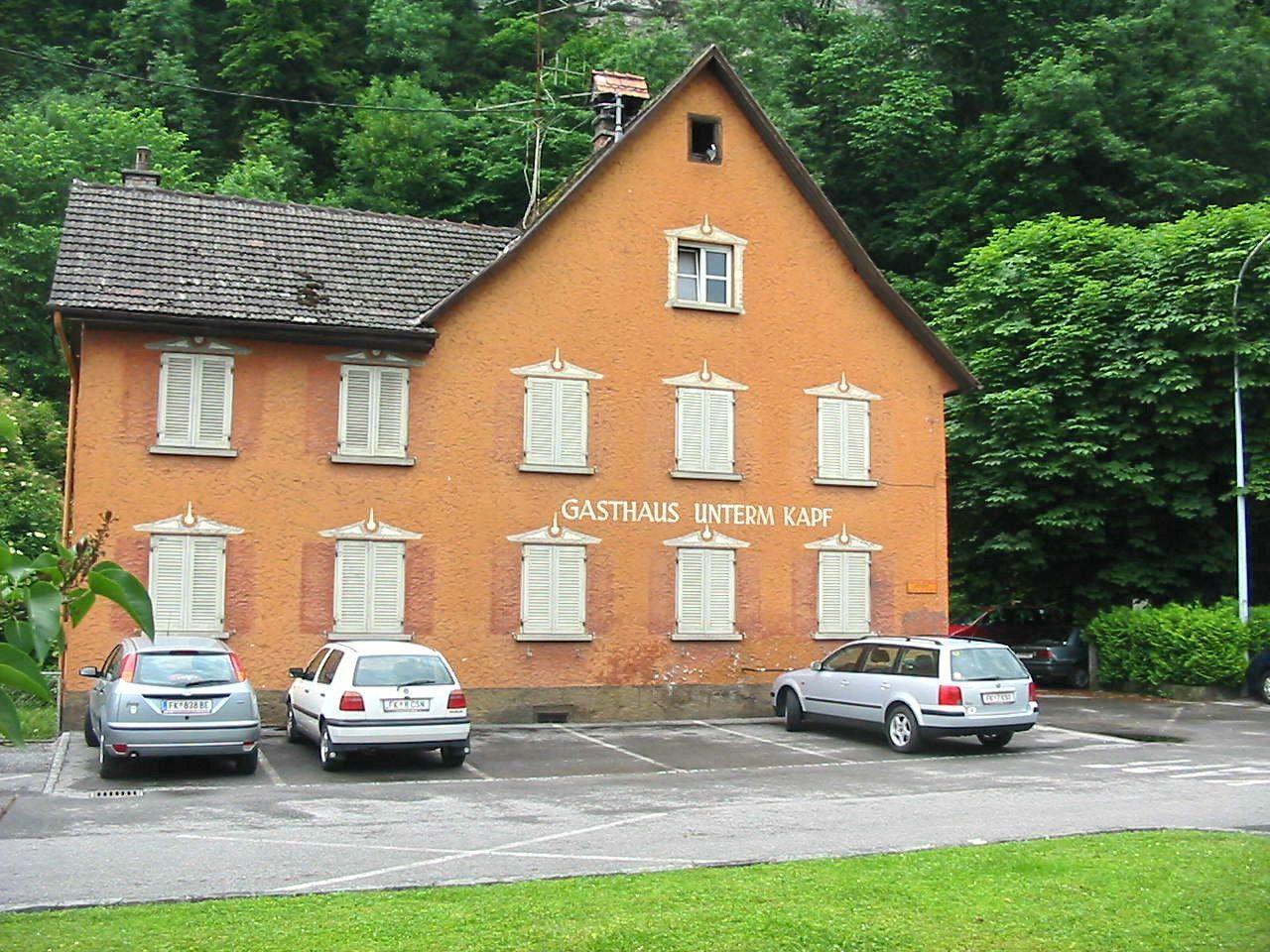 Das einstige Gasthaus Unterm Kapf in der Feldkirch Kapfschlucht wurde 2004 geschlossen
