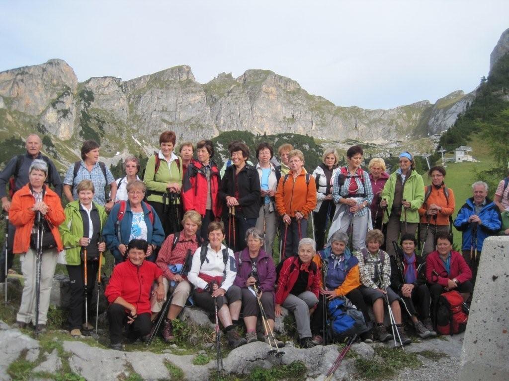Der Kneipp-Aktiv-Club in der Wanderwoche am Achensee vor zwei Jahren