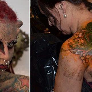"""Bei der diesjährigen Wildstyle & Tattoo Messe ist auch die """"Mexican Vampire Woman"""" zu Gast"""