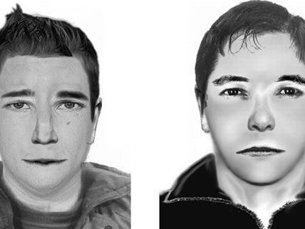 Zwei Männer, von denen nun diese Phantombilder vorliegen, sollen den Dom-Brand in Wiener Neustadt gelegt haben