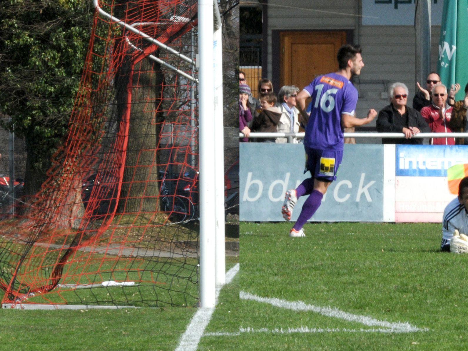 Das 2:0 für den FC Viktoria Bregenz fällt bereits in der 14. Minute.