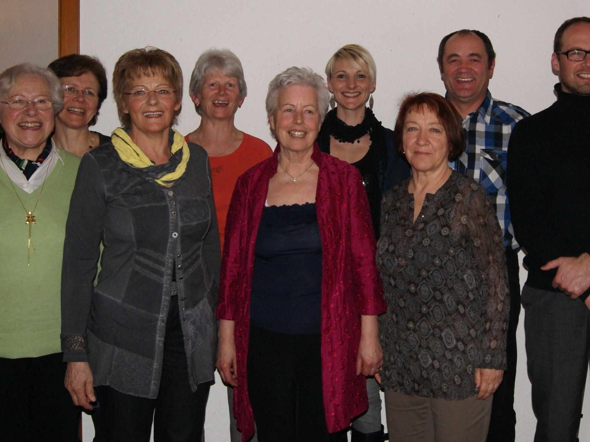Der neugewählte Vereinsvorstand der Singgemeinschaft