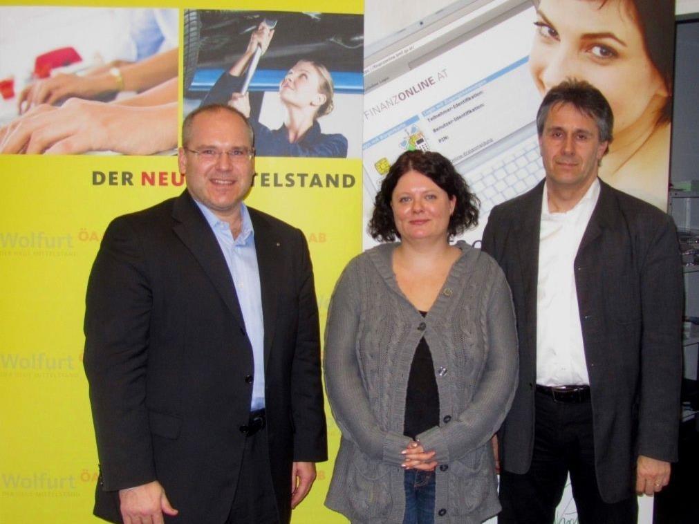 v.l.n.r.: Ing. Charly Lang, Alexandra Hosp, Mag. Peter Geiger