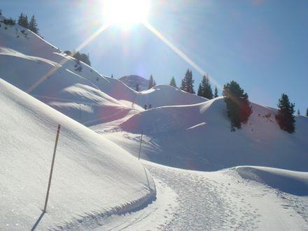 Herrliche Winterlandschaft in Schröcken