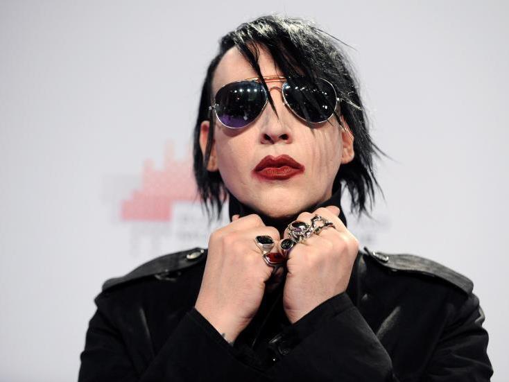 Marilyn Manson vor dem Auftritt bei der Echo-Verleihung am Donnerstag