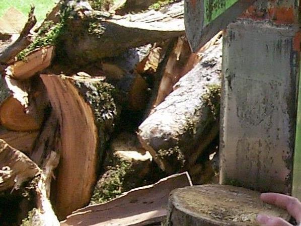 Bei Arbeiten mit einer Holzspaltmaschine verletzte sich der 91-jährige Lochauer.
