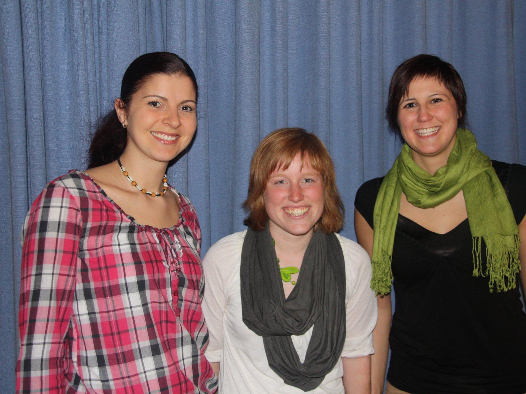 Die Pädagoginnen des Waldkindergartens Elisabeth Schwab, Lisi Hilbe und Melanie Beller