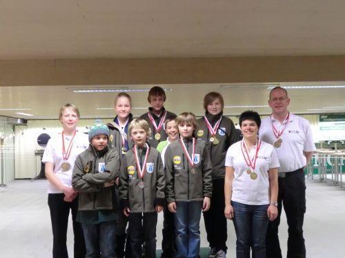Die erfolgreichen Schützen der USG Andelsbuch bei der Landesmeisterschaft in Dornbirn