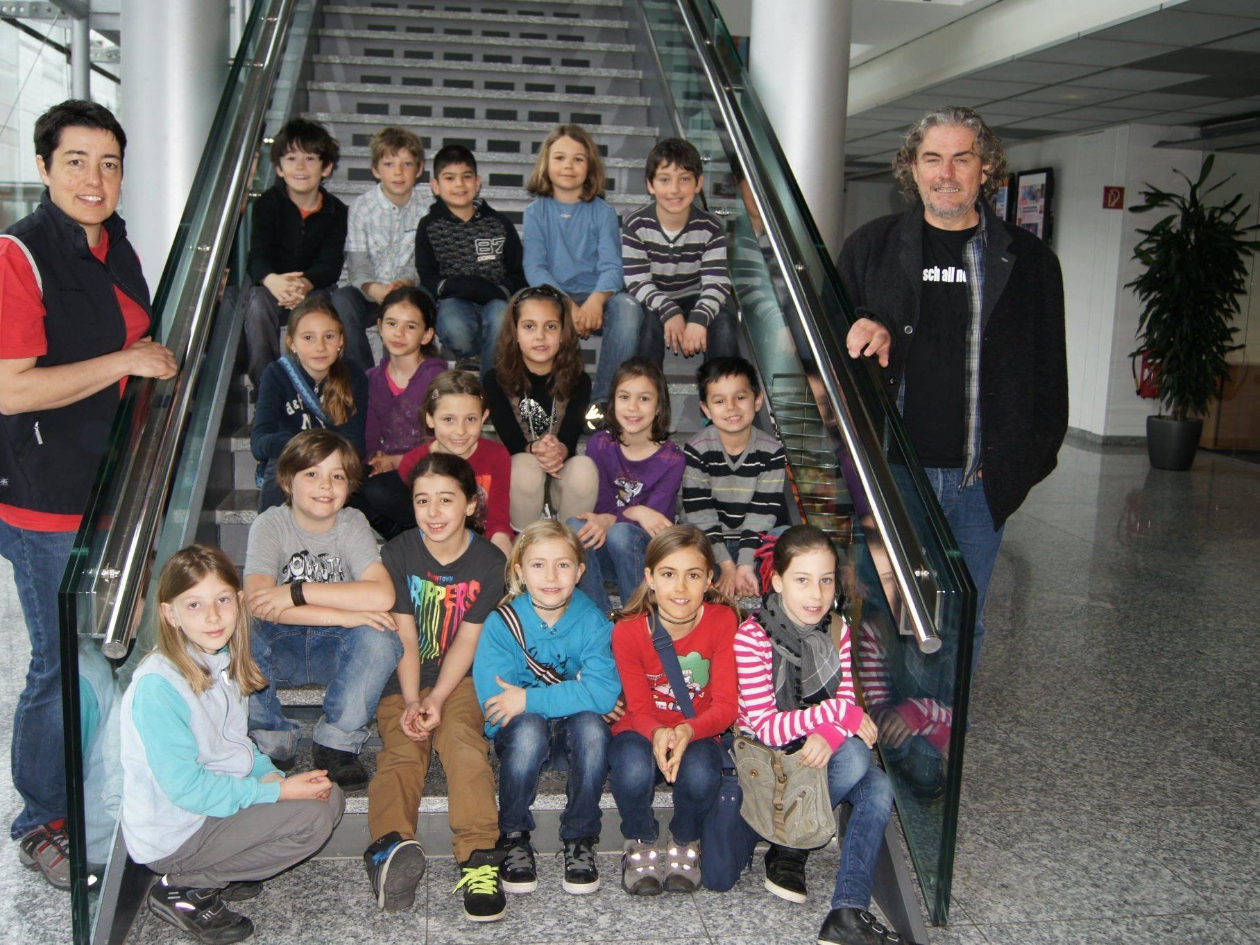 Schüler der 3a-Klasse der VS Oberdorf beim Besuch im VMH.