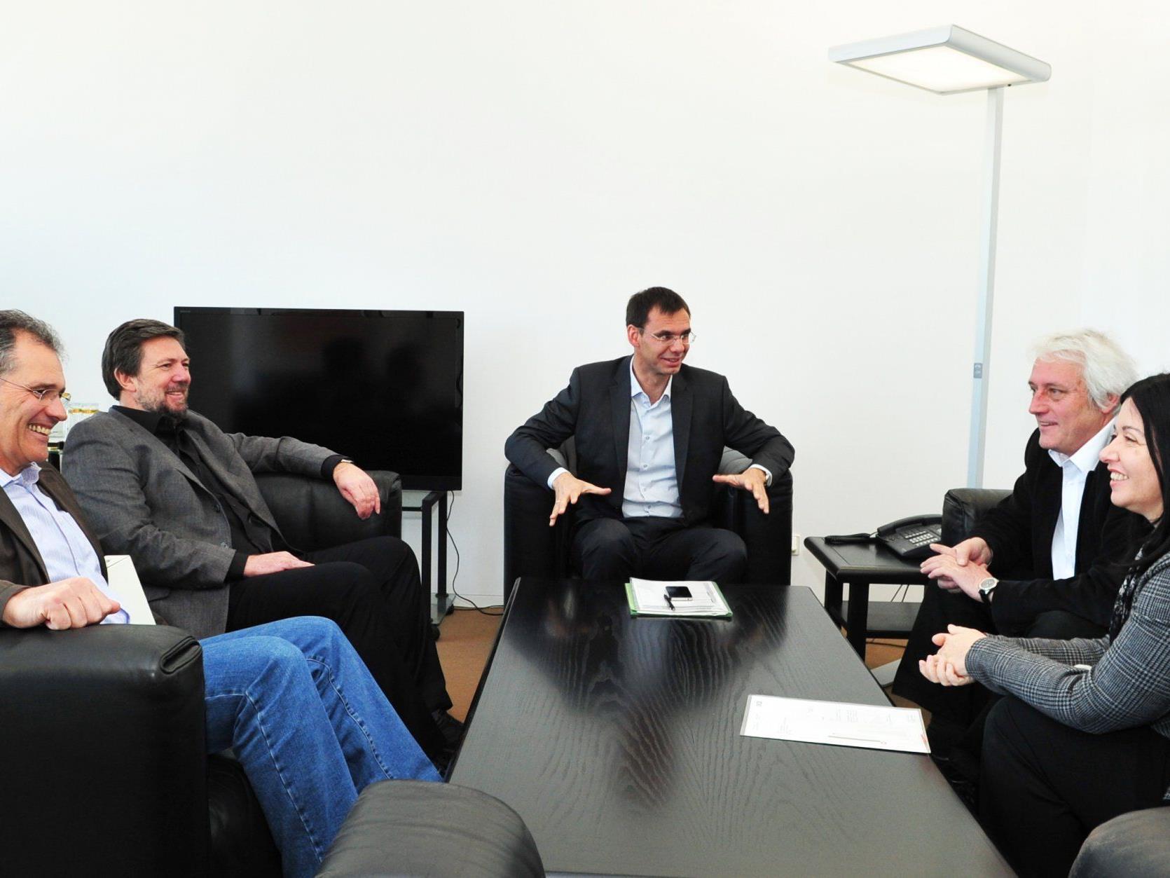 Konstruktives und partnerschaftliches Gespräch im Vorarlberger Landhaus in Bregenz