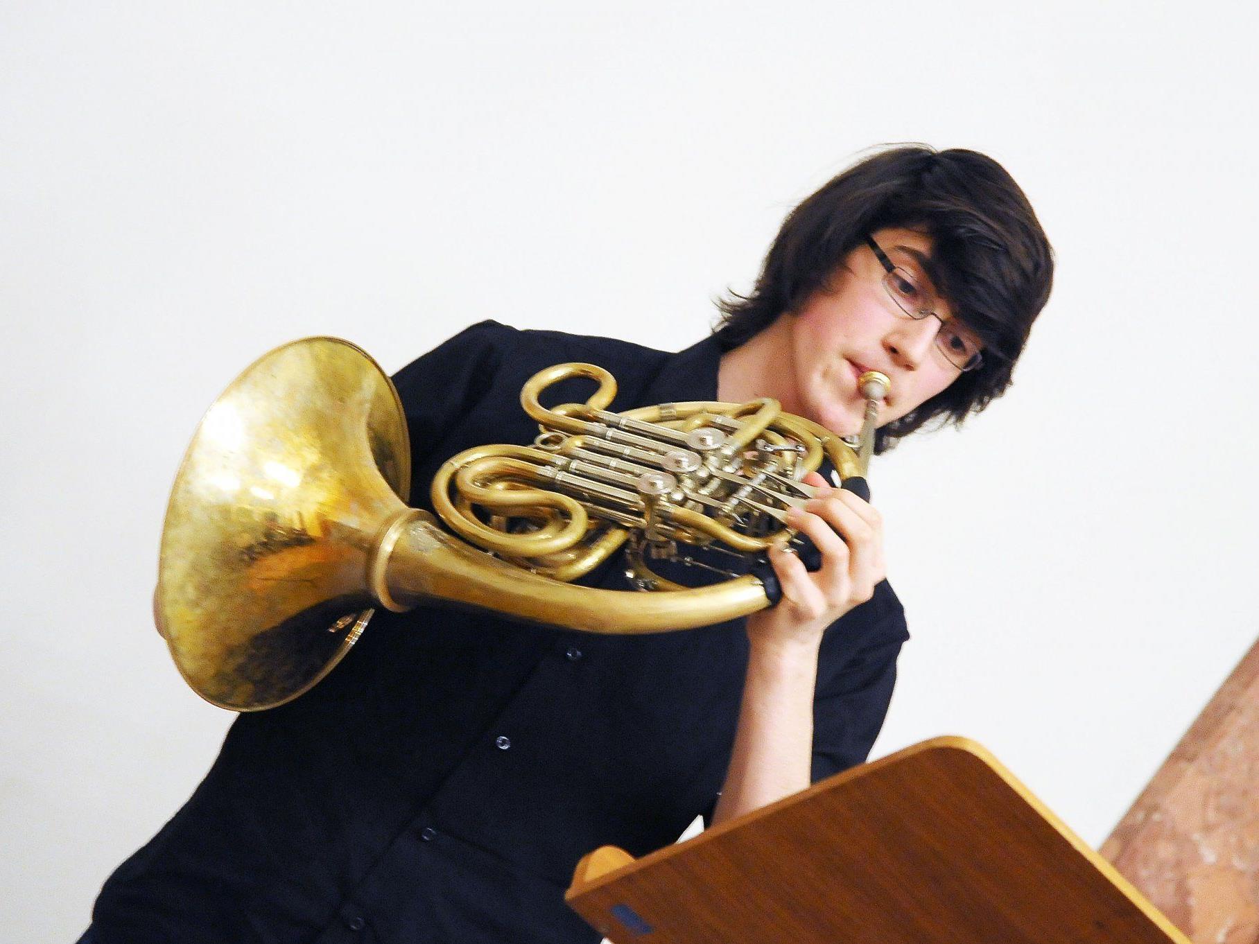 Die mit dem Jungmusikerleistungsabzeichen ausgezeichneten Musiktalente spielten auf