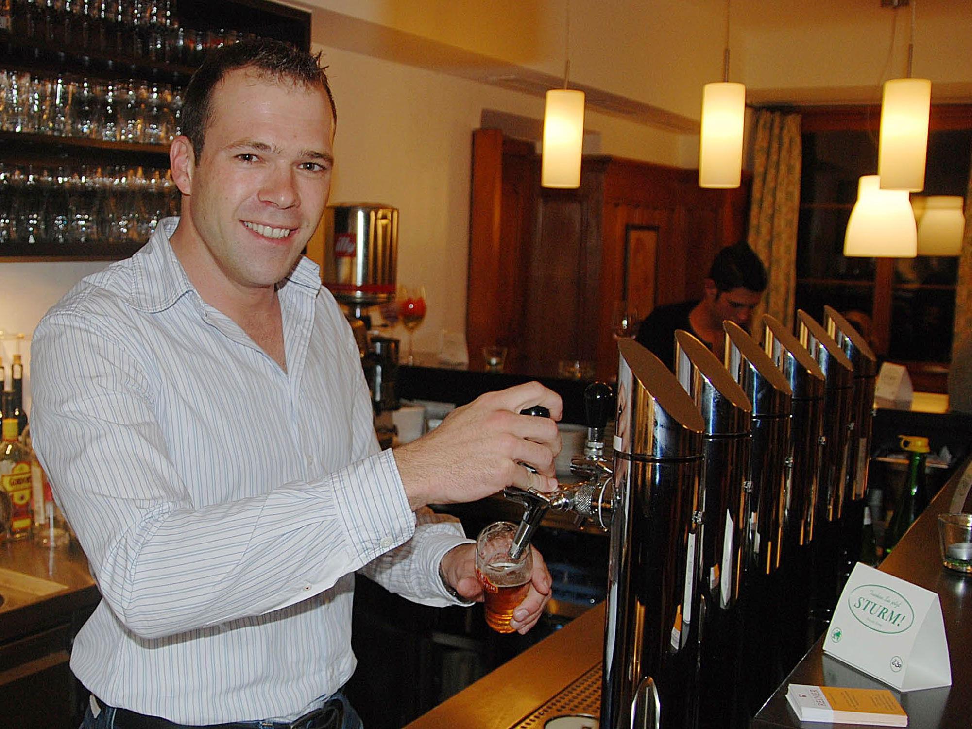 Am 22. März feiert Philipp Rainer sein fünfjähriges Jubiläum als Wirt vom Brauereigasthof Reiner.