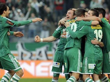 Rapid konnte den Torfluch beenden und gewann 1:0 gegen Ried.