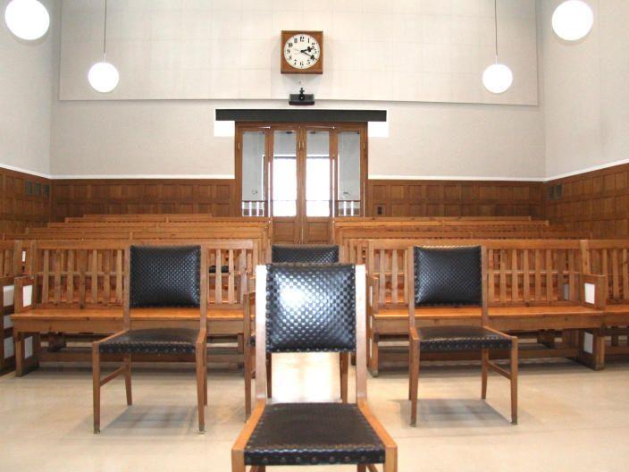 Der Schwurgerichtssaal im LG Feldkirch: Hier wird auch das Urteil im Mordprozess im Fall Cain gefällt werden.