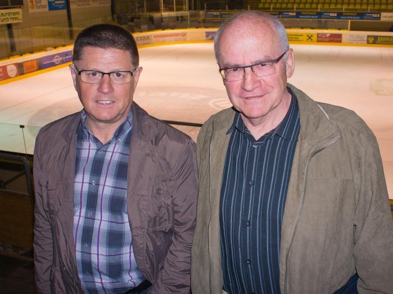Präse Gerold Konzett und Vize Wener Alfare wollen Ruhe in das Eishockey bringen.