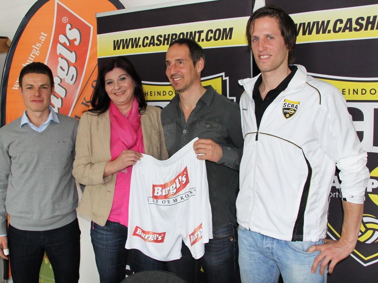 Werner Grabherr, Sabine Lampert, Adi Hütter und Christoph Schösswendter.