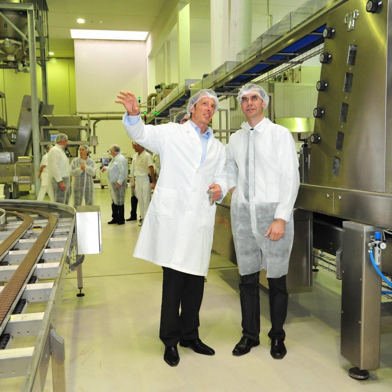 Landeshauptmann Markus Wallner zu Besuch bei innovativen Unternehmen in Dornbirn - im Bild bei der Firma Ölz