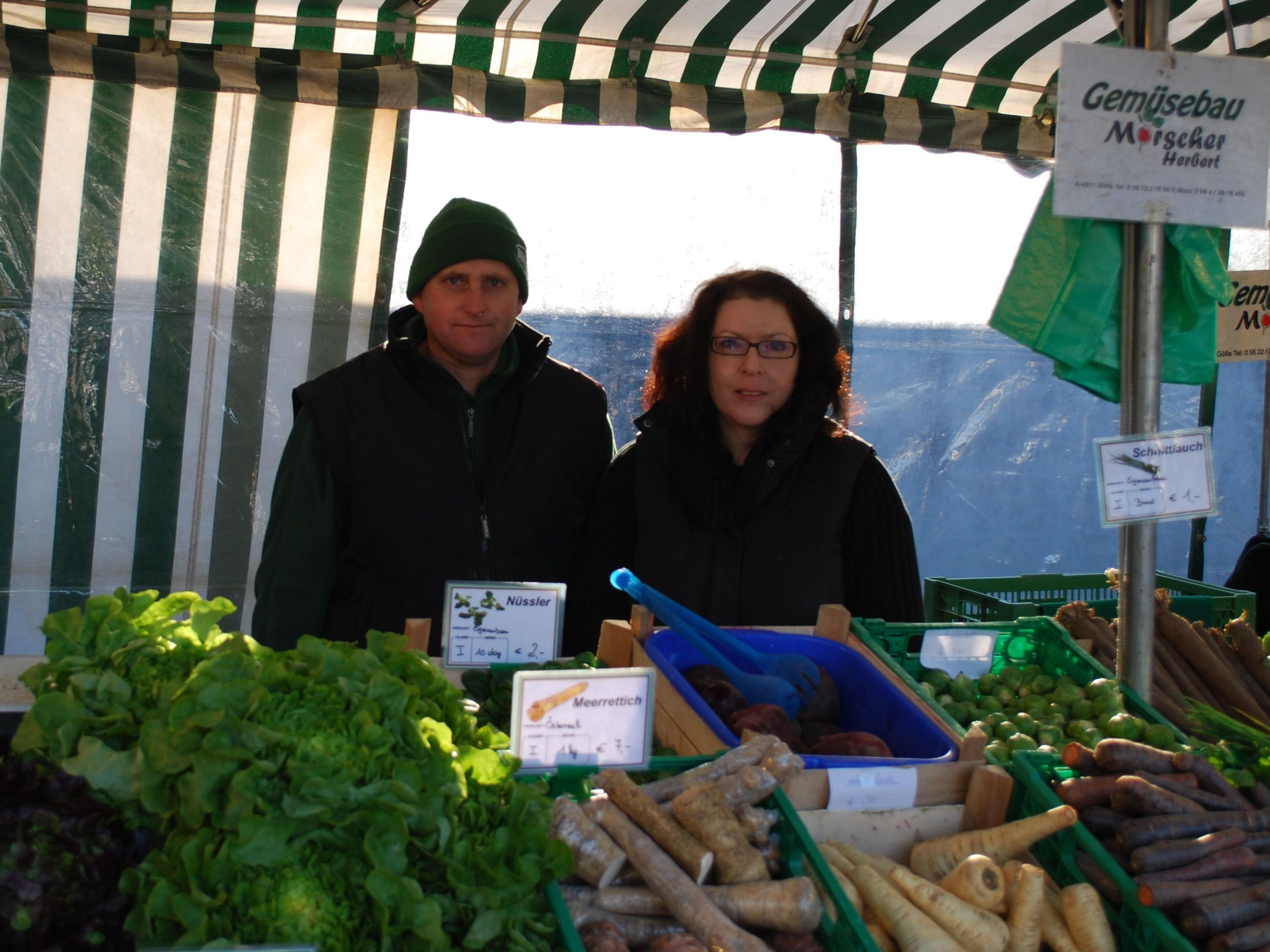 Herbert Morscher auf dem Rankweiler Wochenmarkt