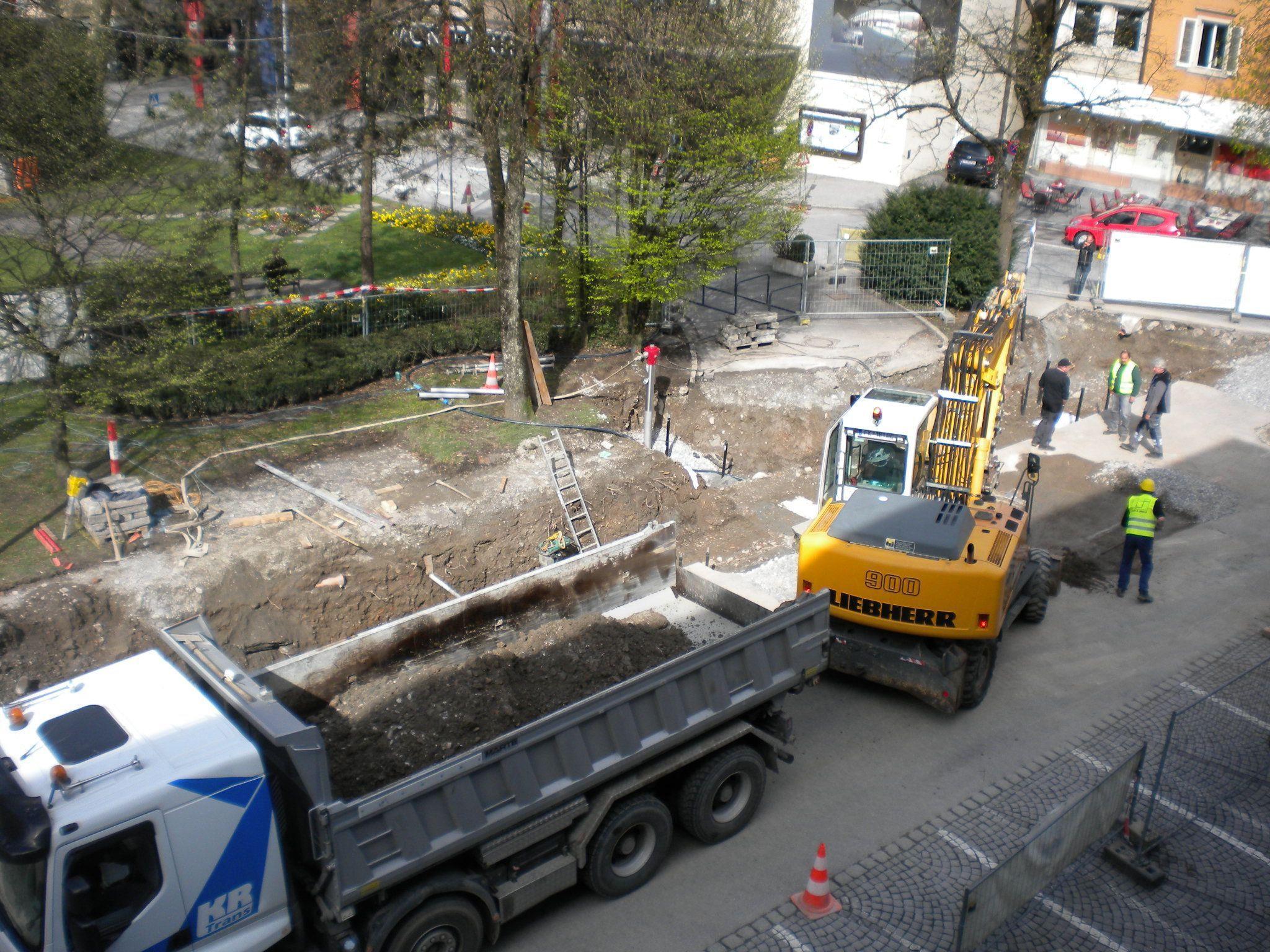 Vor dem Rösslepark wird weiter gearbeitet