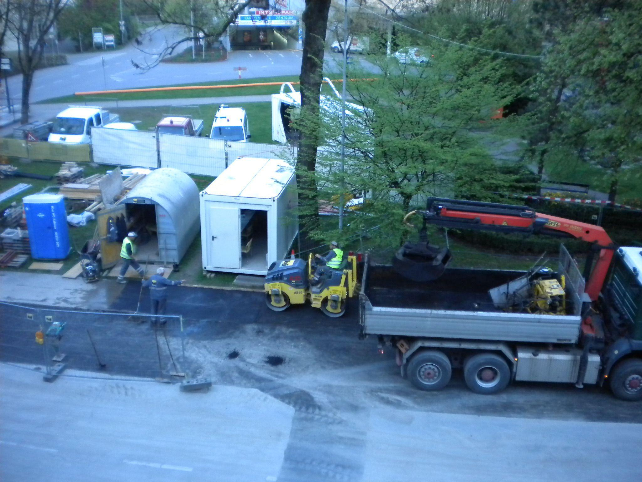 Bauarbeiten vor dem Rösslepark werden bald abgeschlossen sein