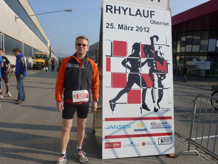 Ralf Schroeder testete seine Form in Oberriet