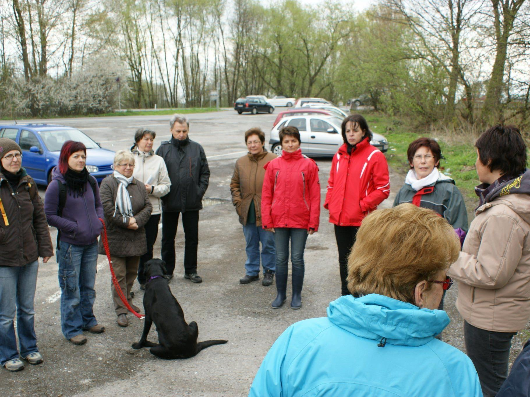 Brigitte Kremmel informierte die Teilnehmer über die Frühlingskräuter