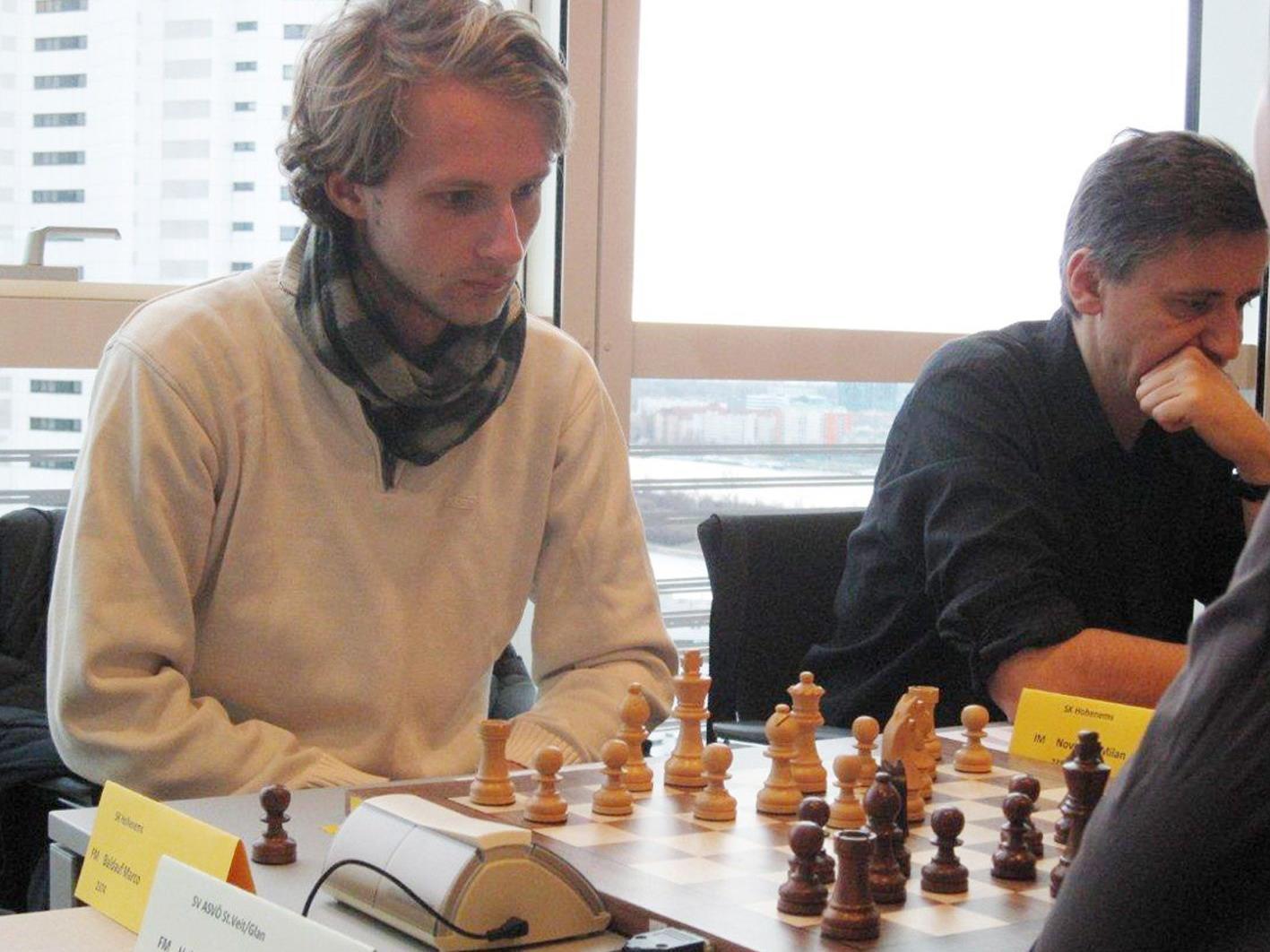 Die beiden IM Marco Baldauf und Milan Novkovic (r.) holten je 3,5 von 4 möglichen Punkten.