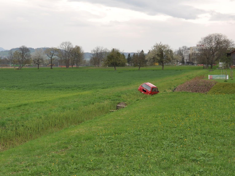 Der 19-Jährige landete schliesslich mit seinem Wagen in einem Graben.