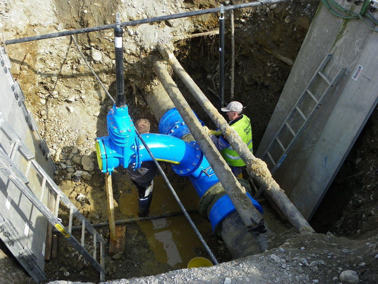 Abzweigung für Hauptwasserleitung