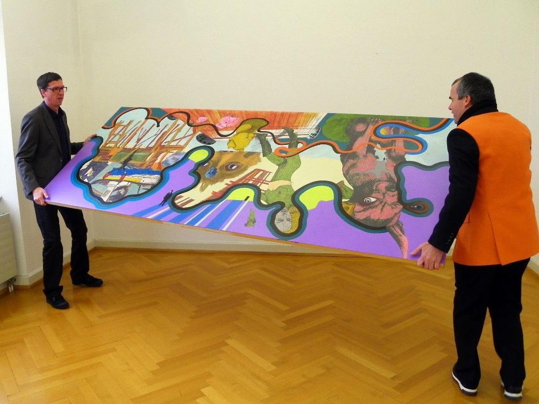 FURIOSO.SKOK alias Roland Ott und Gerhard Skok drehten an ihren Ausstellungsstücken