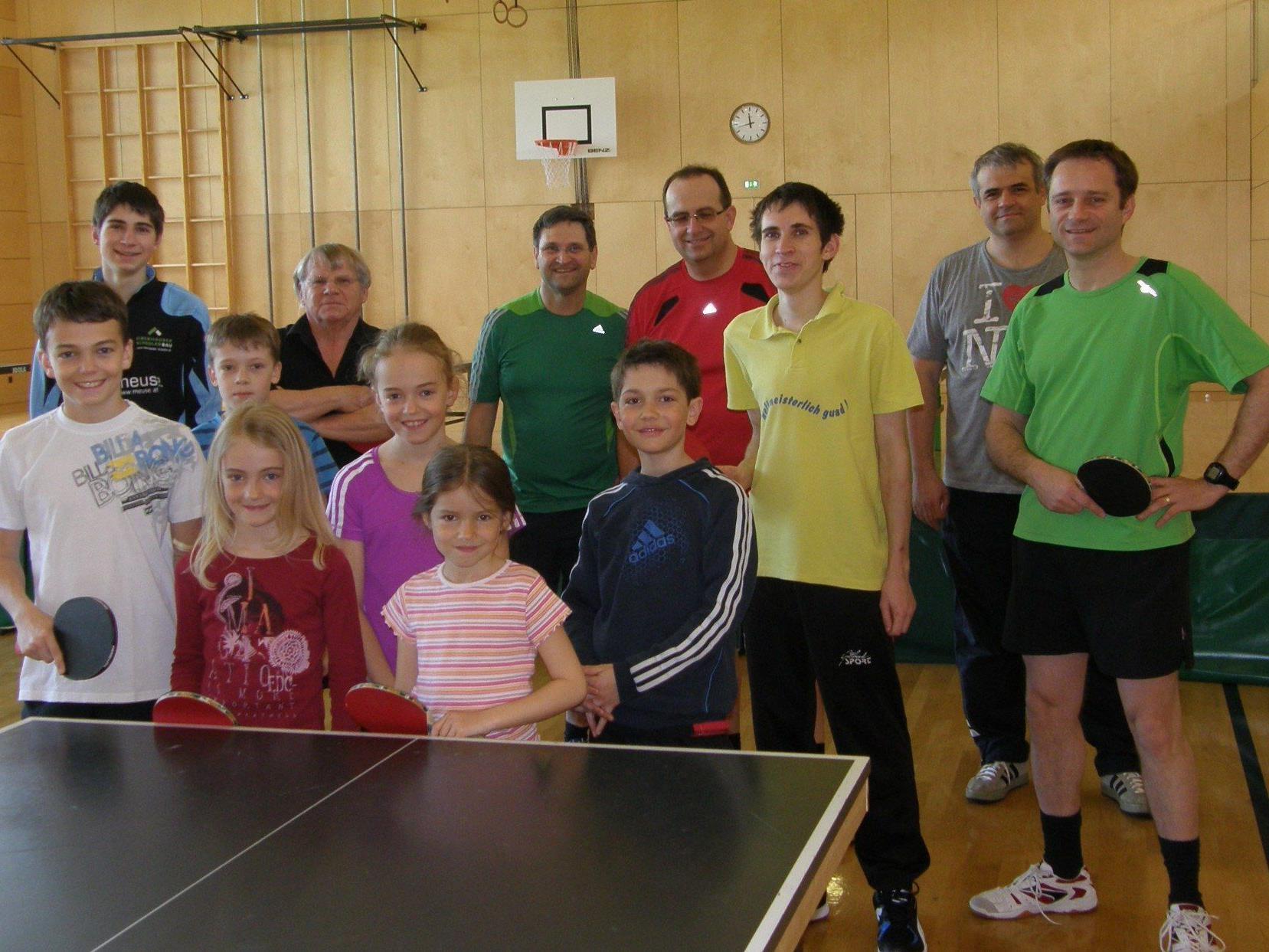 Die Lingenauer Tischtennisspieler(innen)