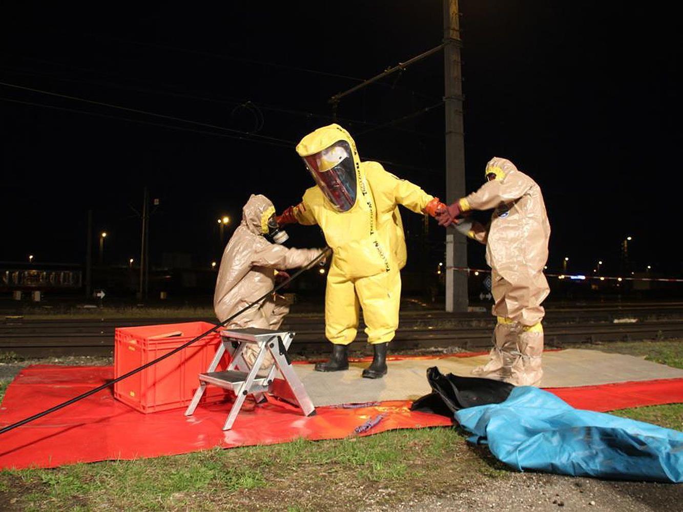 Am Verschiebebahnhof in Linz kam in der Nacht auf Freitag zu einem Schadstoffaustritt.