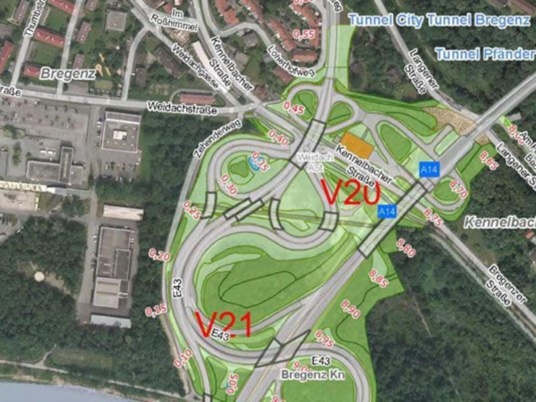 Sanierungsarbeiten am Südportal des Pfändertunnels starten am 10. April 2012.