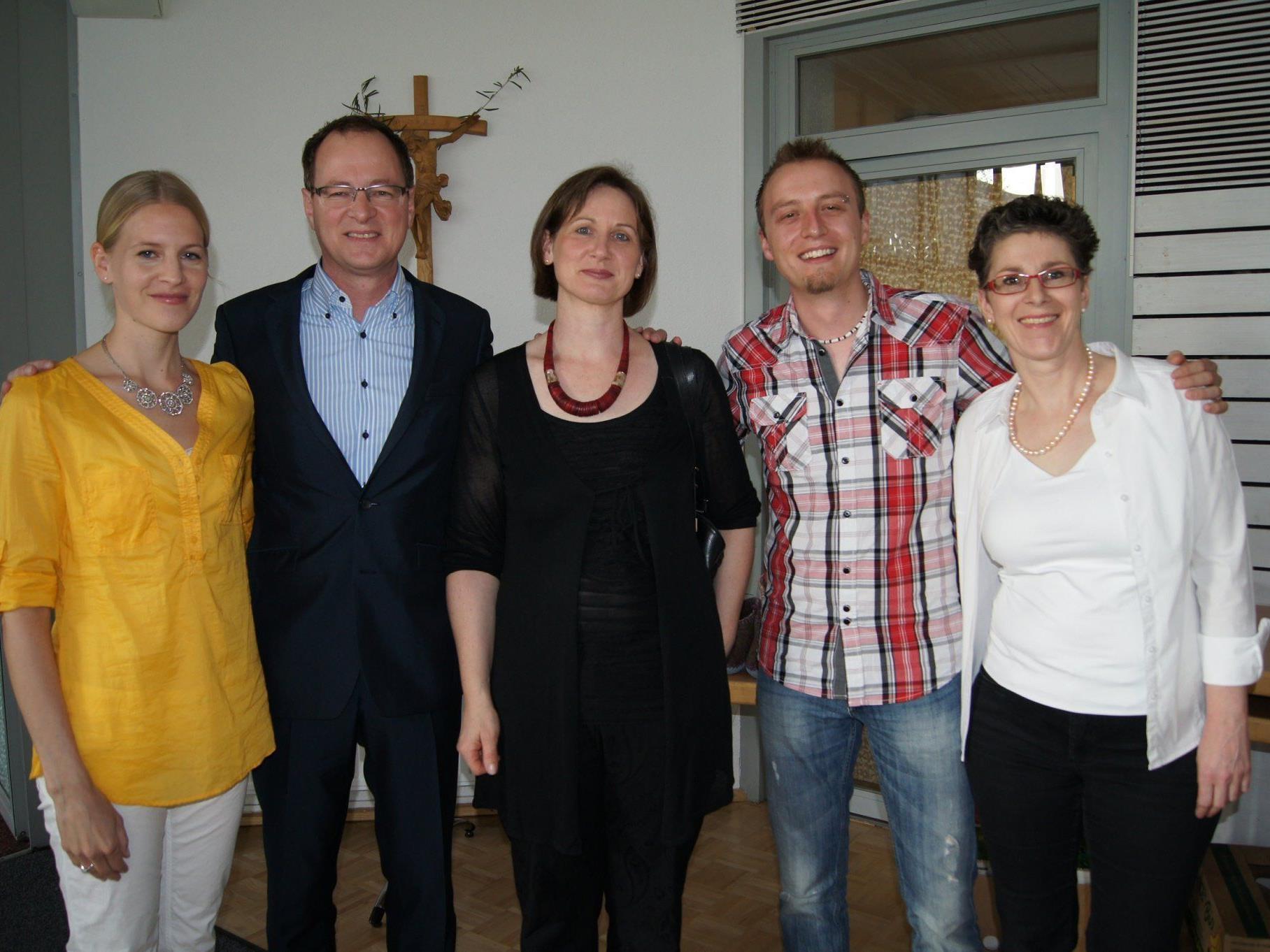 V. l.: Karin Rüf, Manfred Kräutler, Marianna Moosbrugger, Benjamin Meßmer, Daniela Thaler.