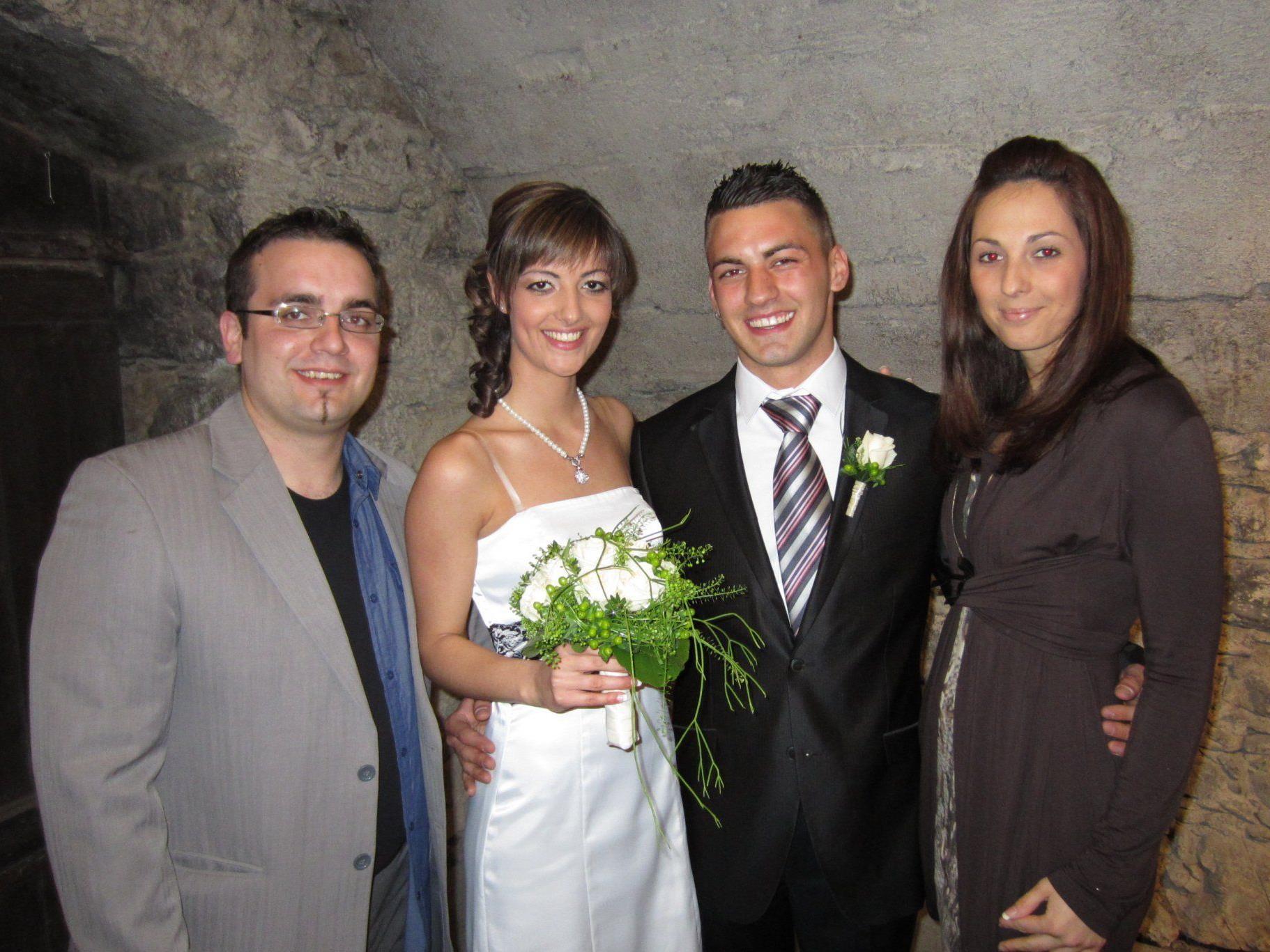 Suzana Mladenovic und Petar Gvozdenac haben geheiratet.