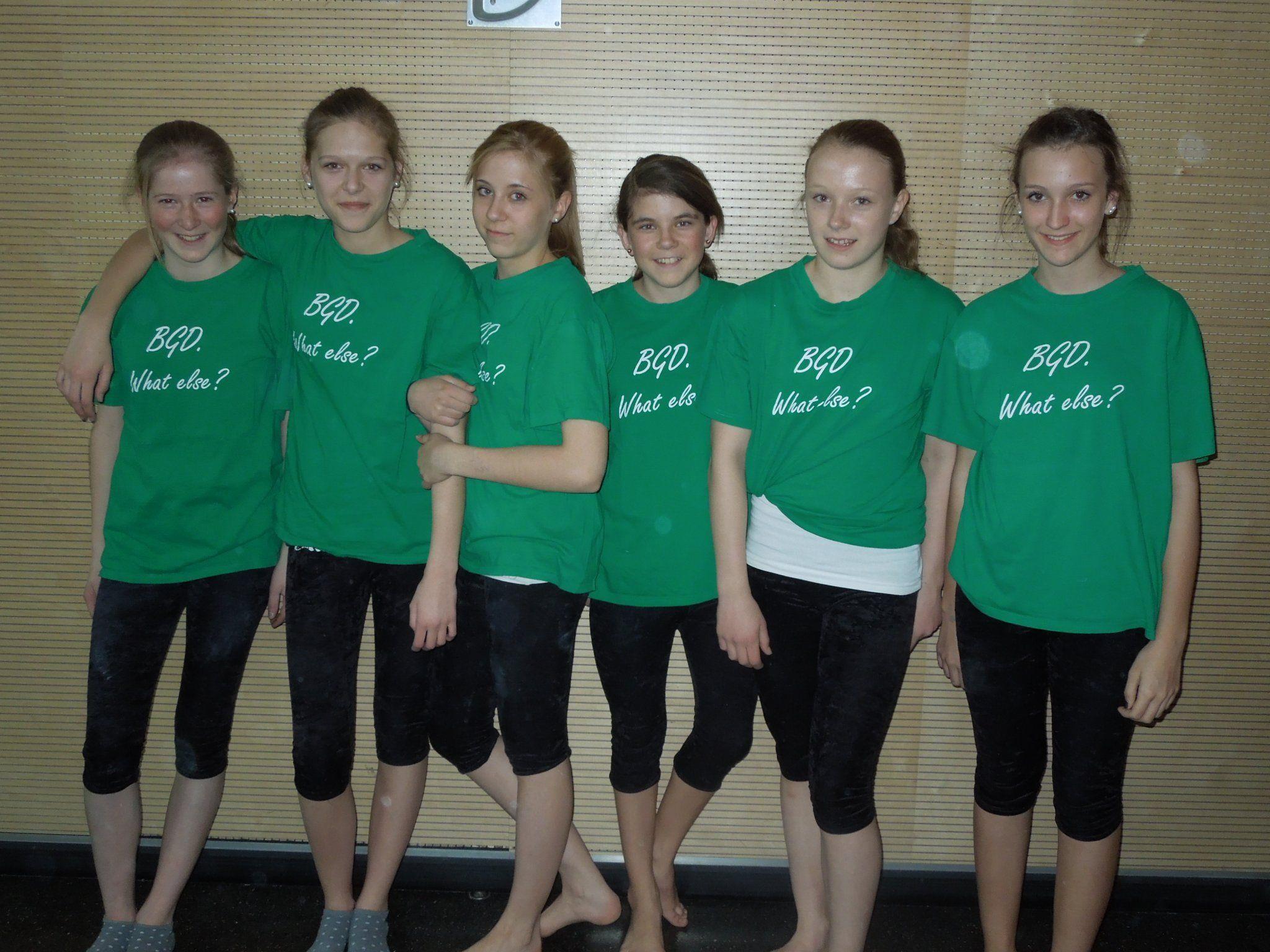 Die talentierten Turnerinnen von der 4 a des BG Dornbirn, welches auch Ausrichter von Turn 10 war.