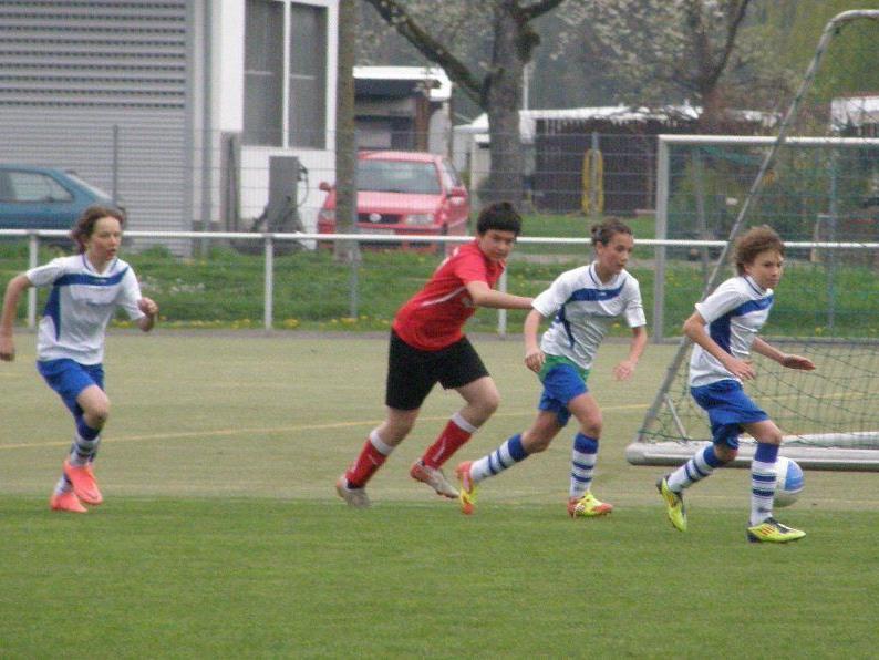 Die jungen Auer (in weiß-blau) unterlagen Viktoria Bregenz.