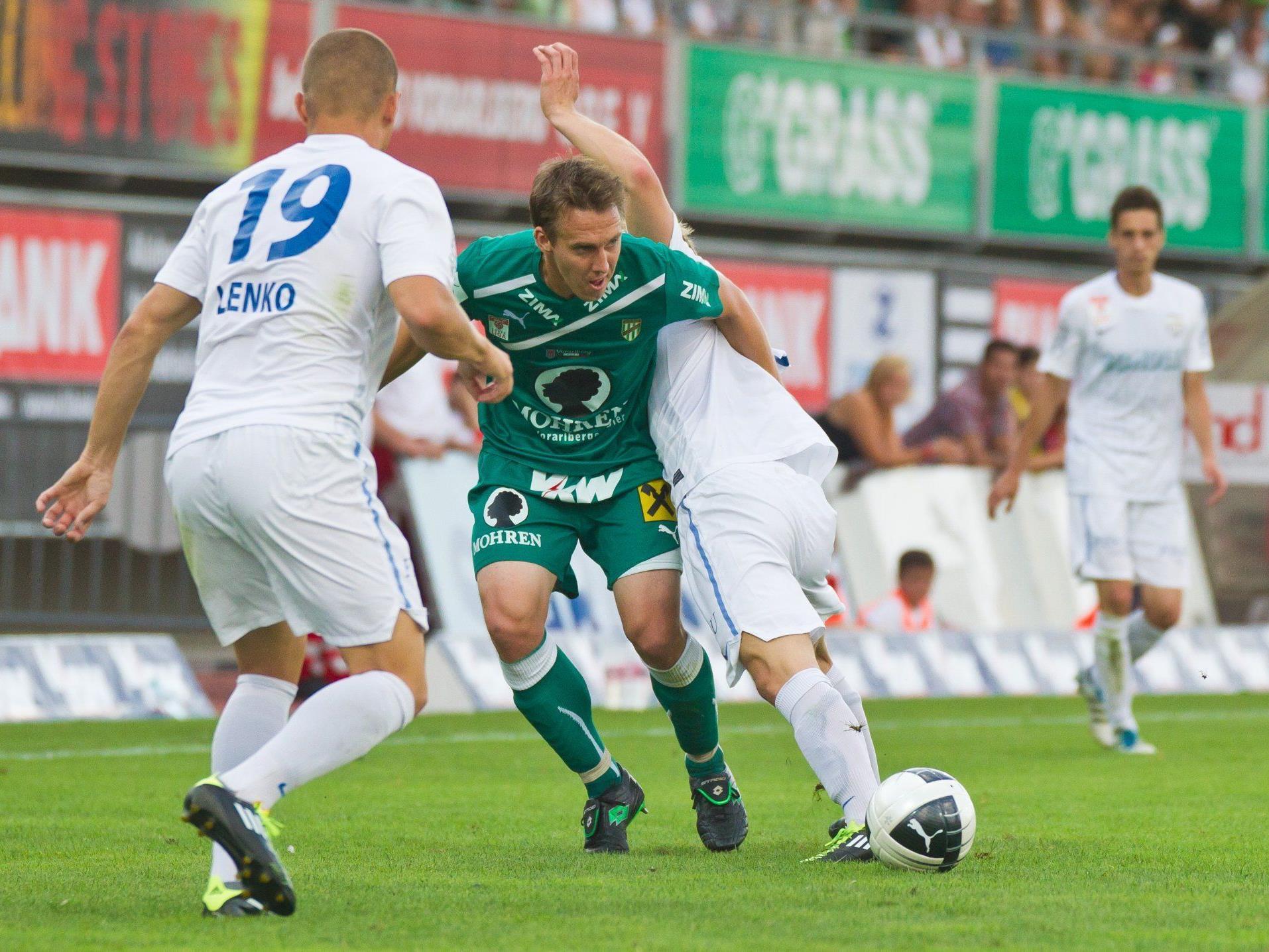 Austria Lustenaus Abwehrchef Christoph Stückler absolvierte im Jahr 2012 alle Spiele für seinen Klub und möchte unbedingt weiter im Titelkampf mitmischen.