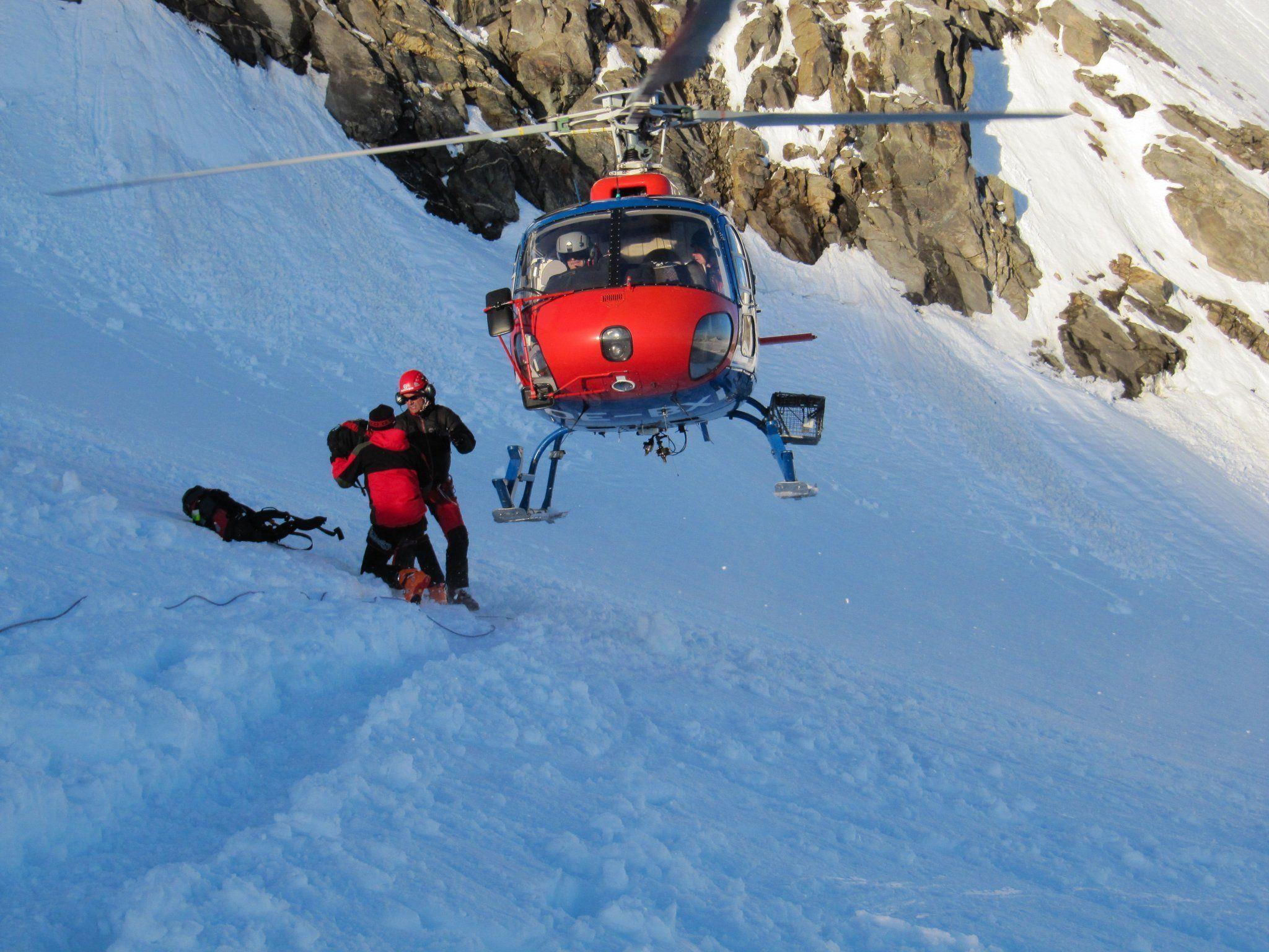 Ein Bergretter verstarb nach dem Flugunfall.